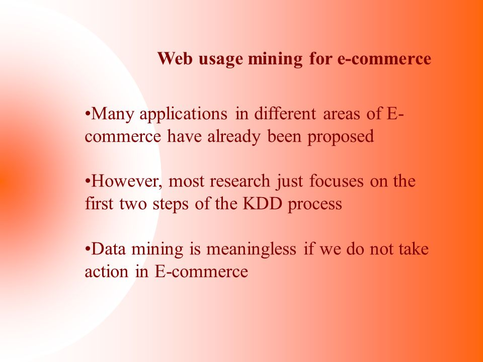 Web usage mining for e-commerce