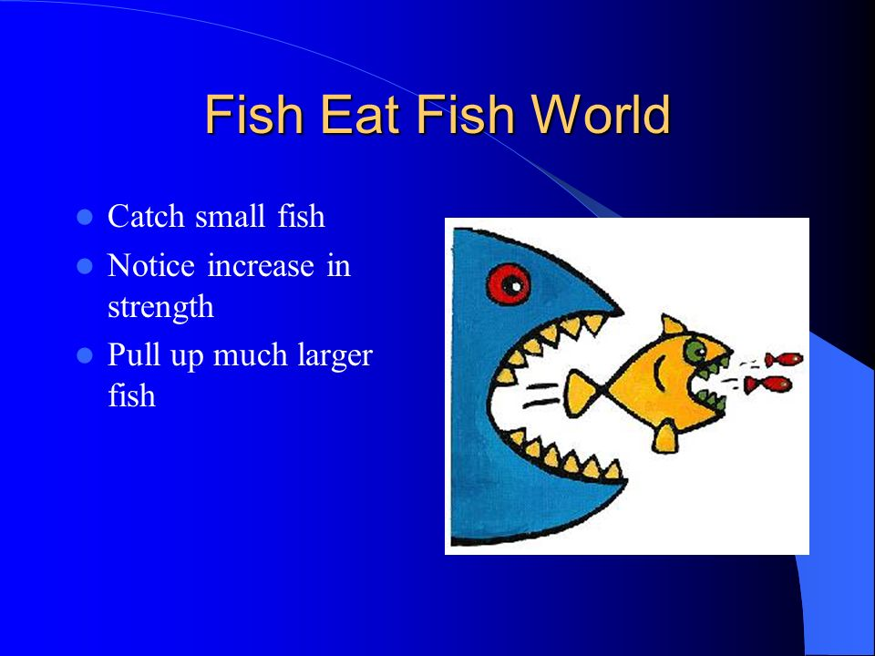 Fish Eat Fish World Catch small fish Notice increase in strength