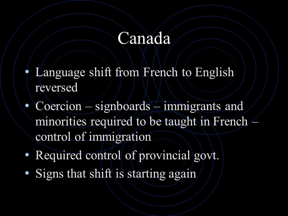 Canada Language shift from French to English reversed