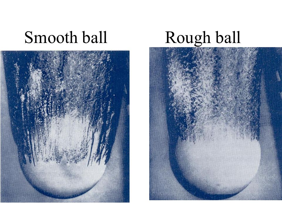 Smooth ball Rough ball
