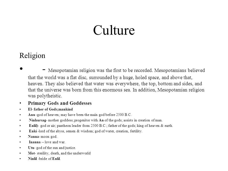 Culture Religion.