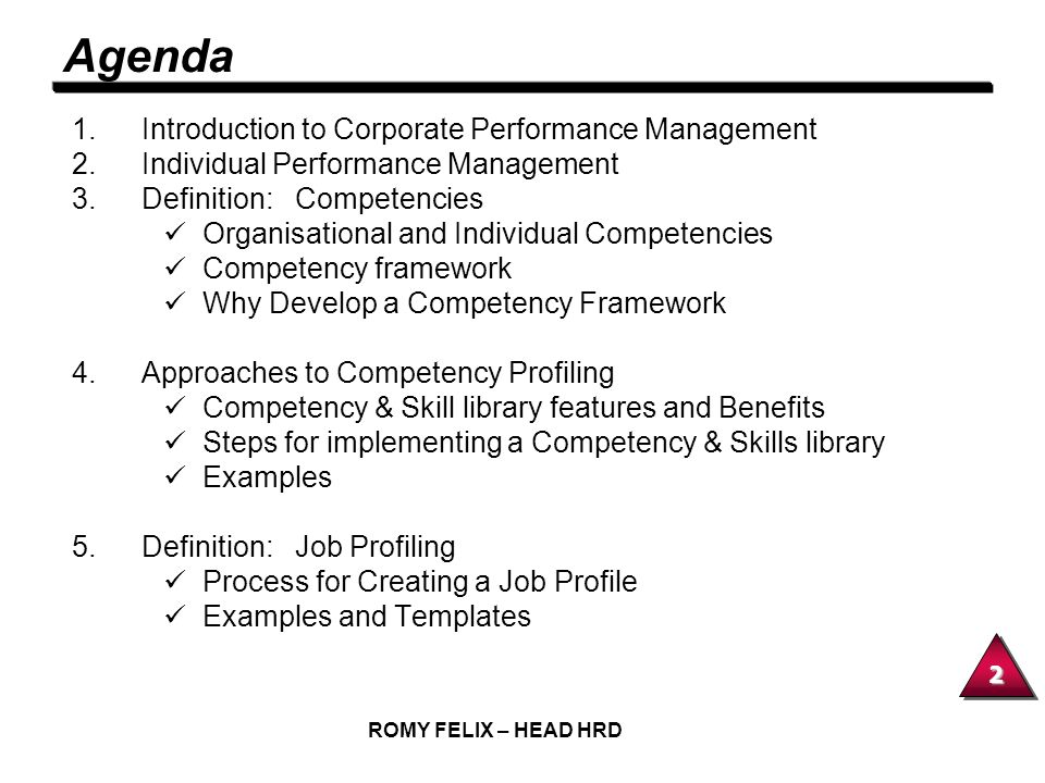 Agenda Introduction to Corporate Performance Management