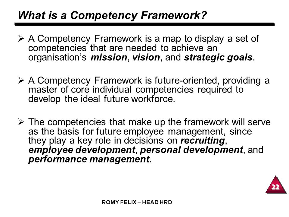 What is a Competency Framework