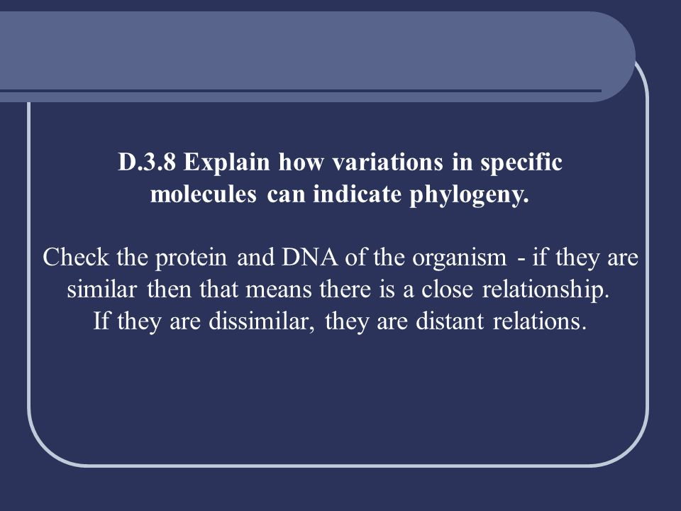 D.3.8 Explain how variations in specific