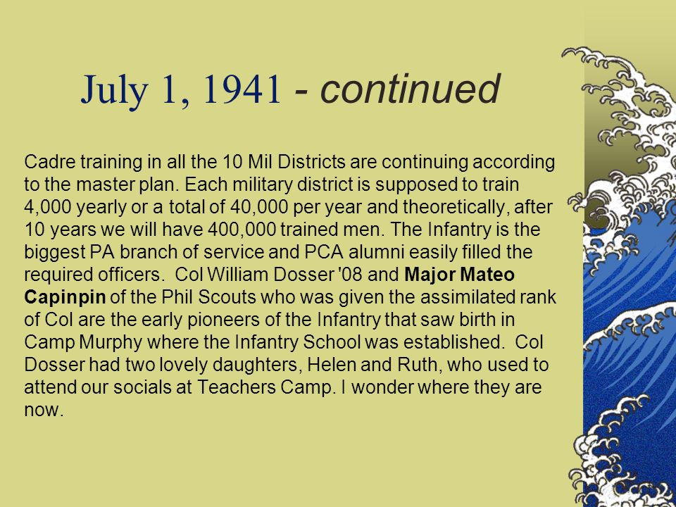 July 1, 1941 - continued