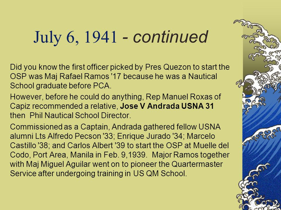 July 6, 1941 - continued