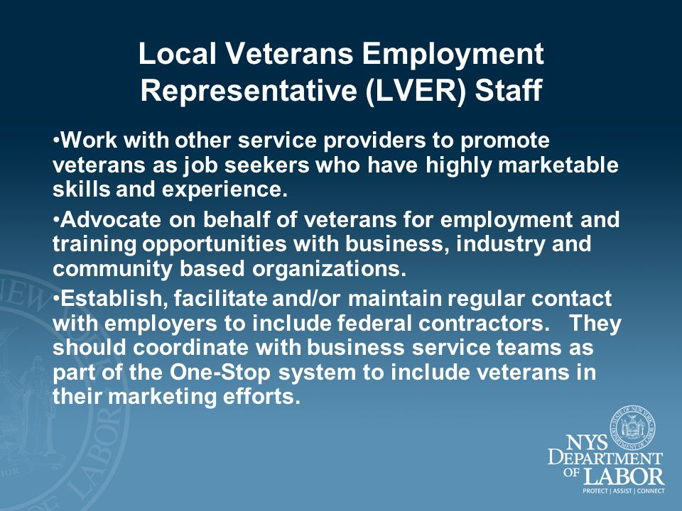 Local Veterans Employment Representative (LVER) Staff