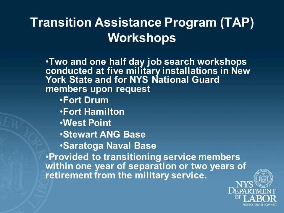 Transition Assistance Program (TAP) Workshops