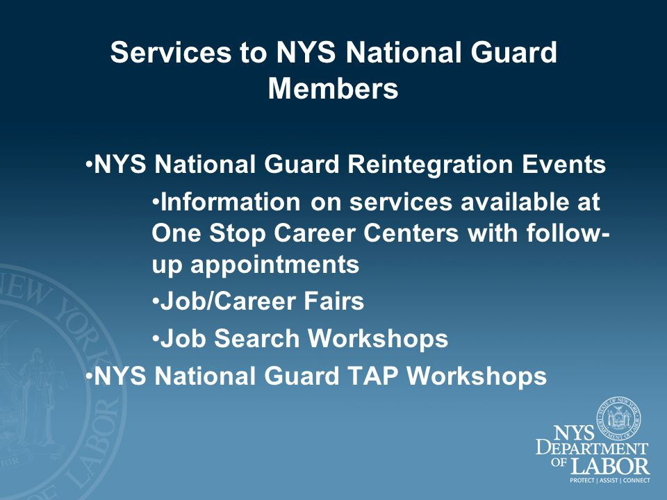 Services to NYS National Guard Members