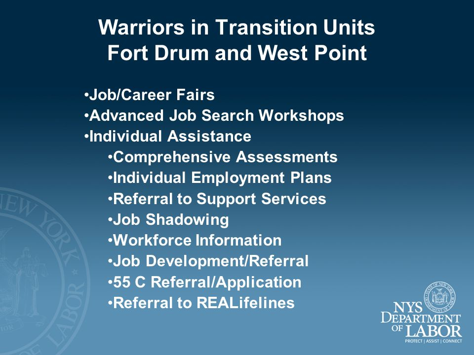 Warriors in Transition Units Fort Drum and West Point