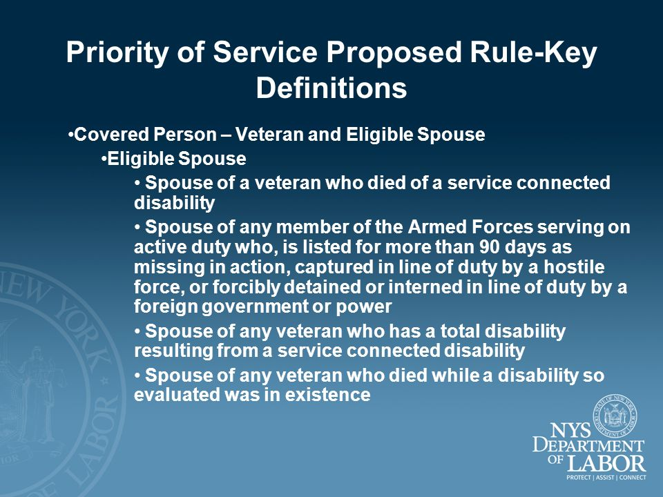 Priority of Service Proposed Rule-Key Definitions