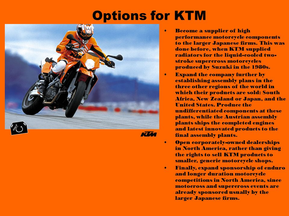 Options for KTM