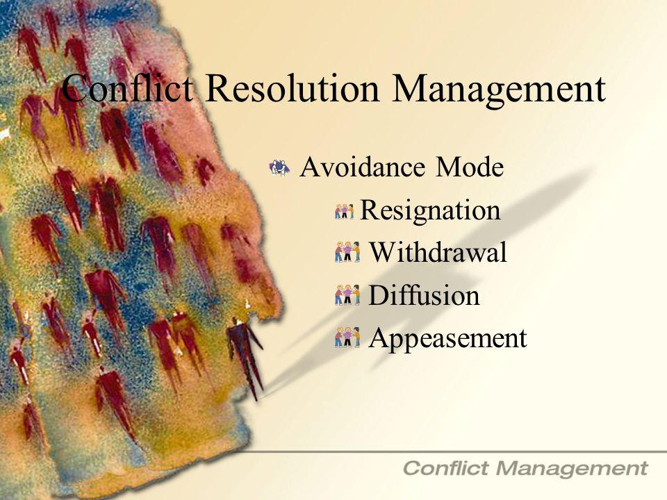 Conflict Resolution Management