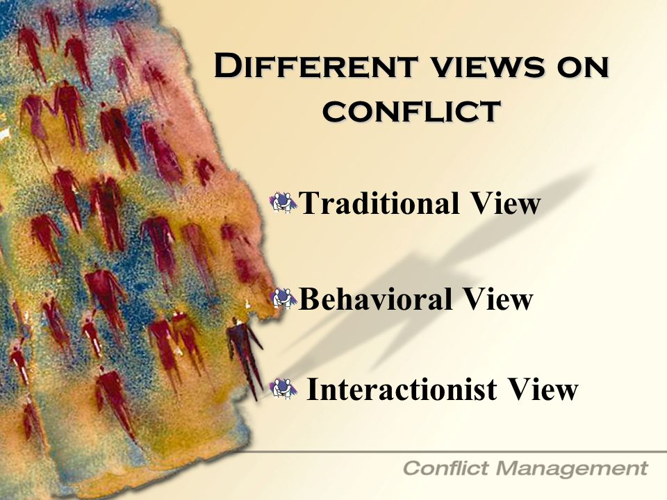 Different views on conflict