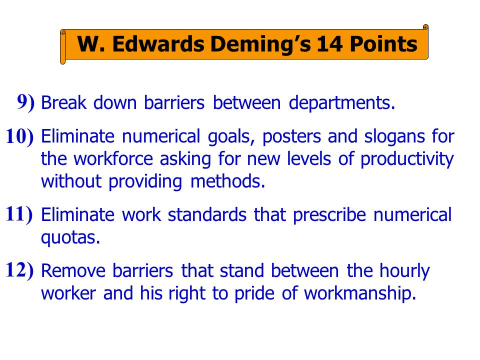 W. Edwards Deming's 14 Points