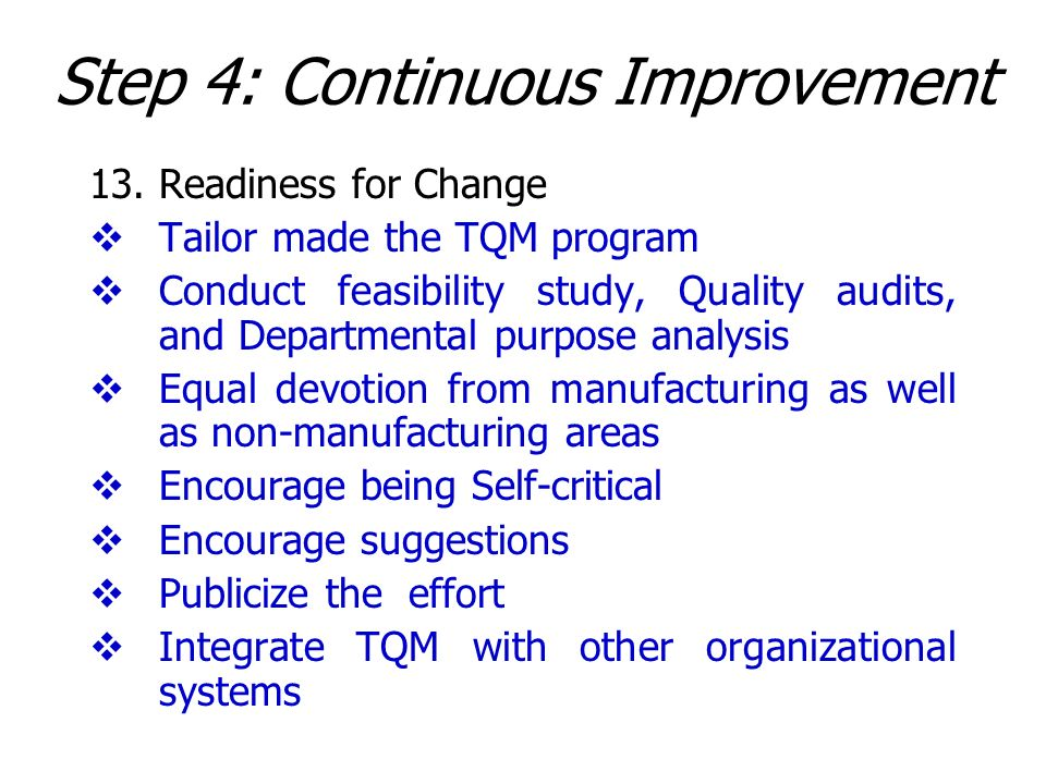 Step 4: Continuous Improvement