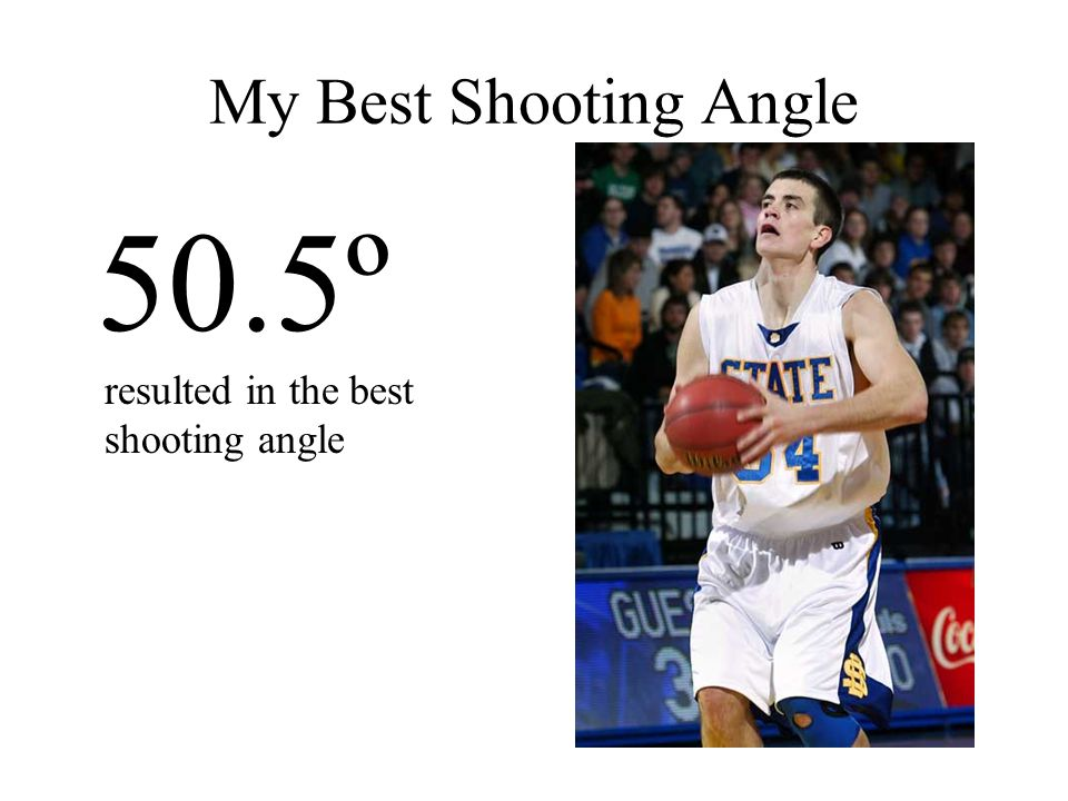 50.5º resulted in the best shooting angle