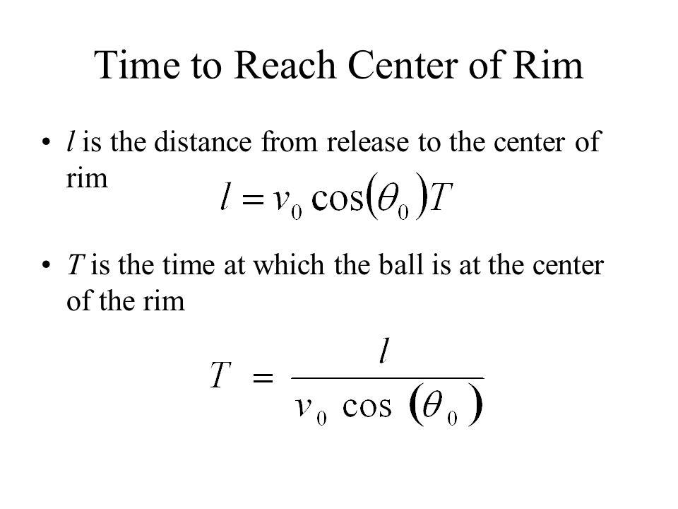 Time to Reach Center of Rim