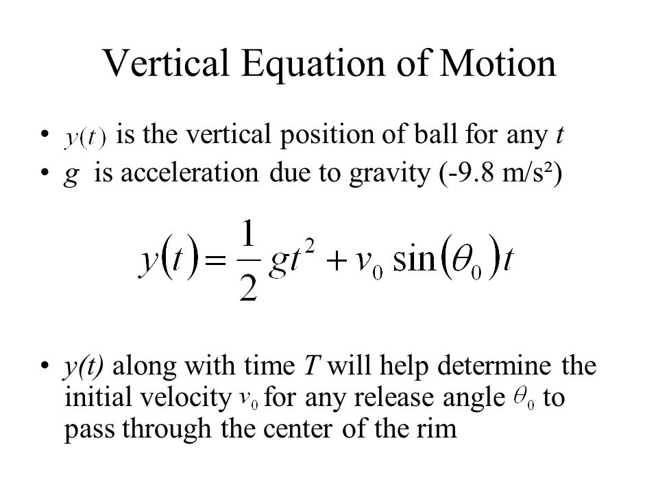 Vertical Equation of Motion