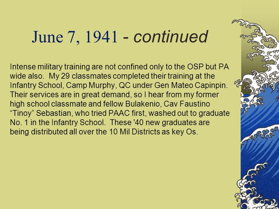 June 7, 1941 - continued