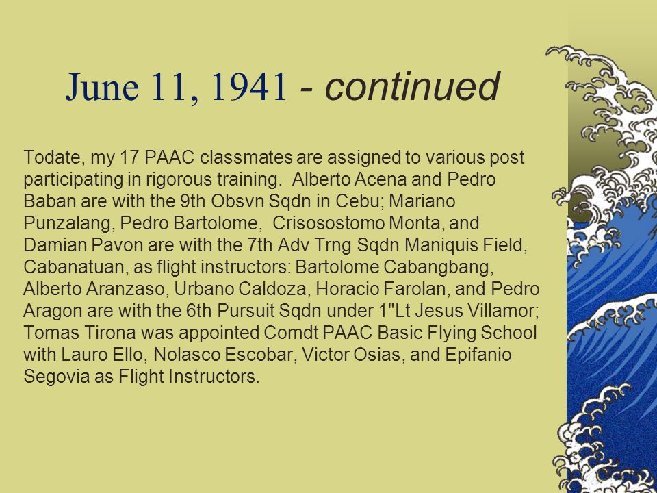 June 11, 1941 - continued
