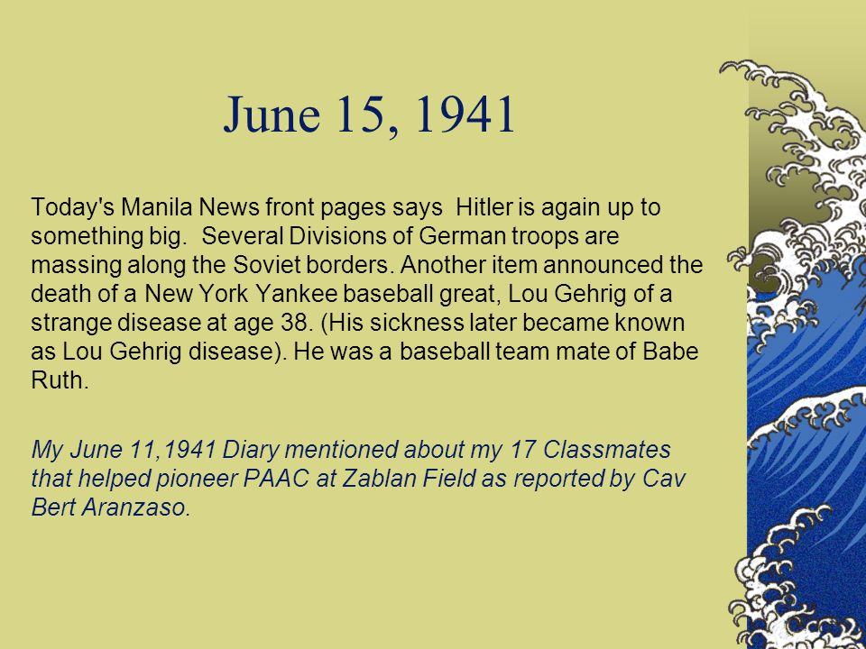 June 15, 1941