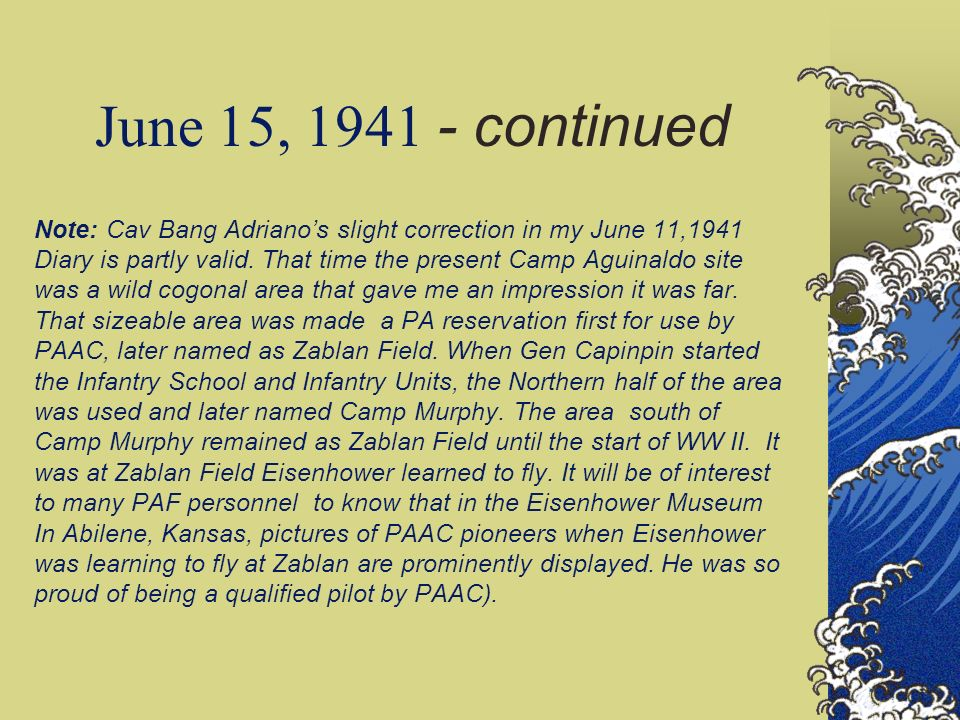 June 15, 1941 - continued