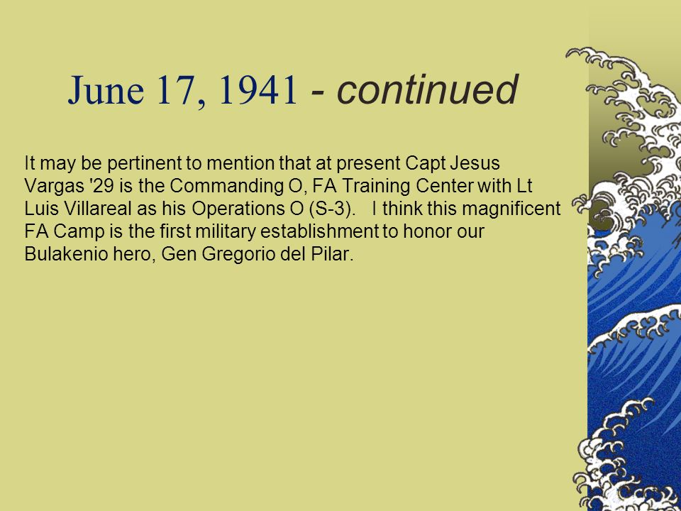 June 17, 1941 - continued