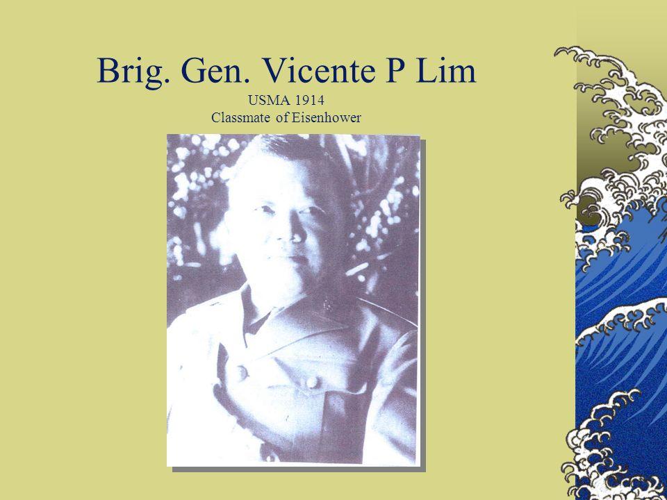 Brig. Gen. Vicente P Lim USMA 1914 Classmate of Eisenhower