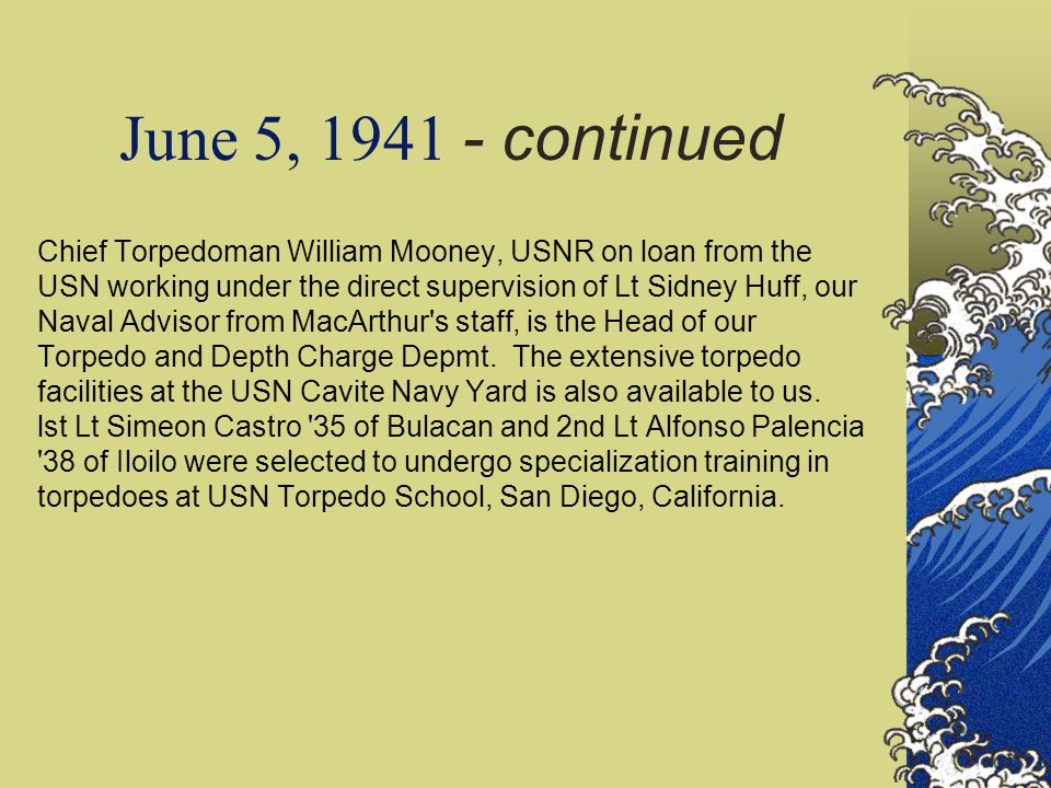 June 5, 1941 - continued