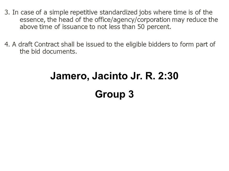 Jamero, Jacinto Jr. R. 2:30 Group 3