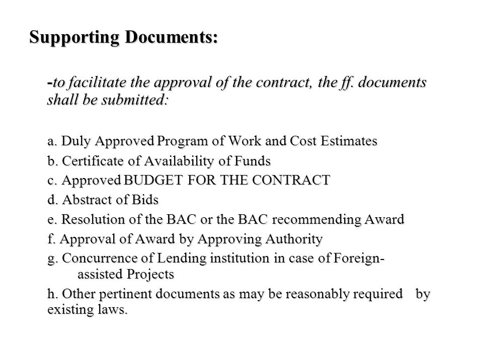 Supporting Documents: