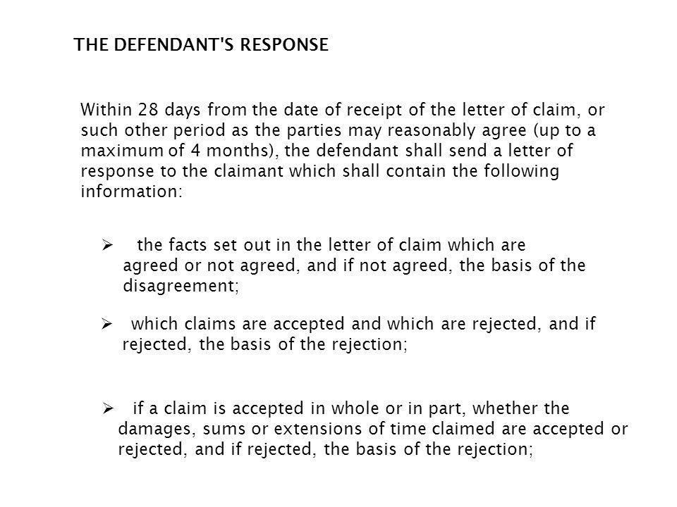 THE DEFENDANT S RESPONSE