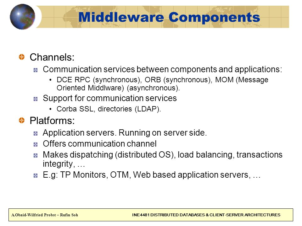 Middleware Components