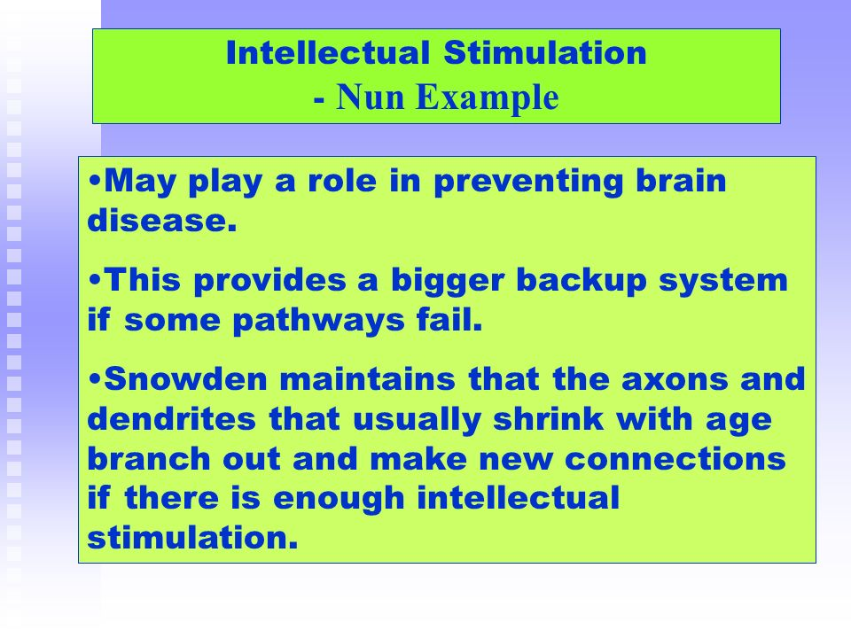 Intellectual Stimulation - Nun Example