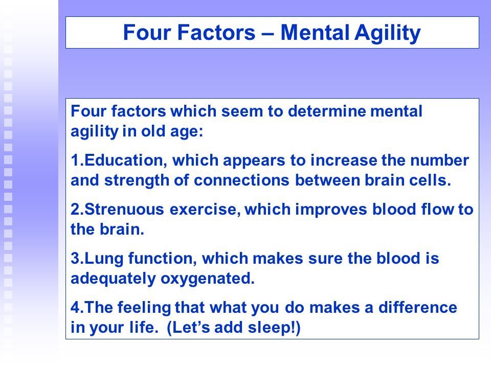 Four Factors – Mental Agility