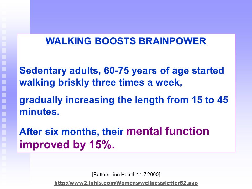 WALKING BOOSTS BRAINPOWER