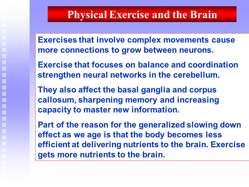 Physical Exercise and the Brain