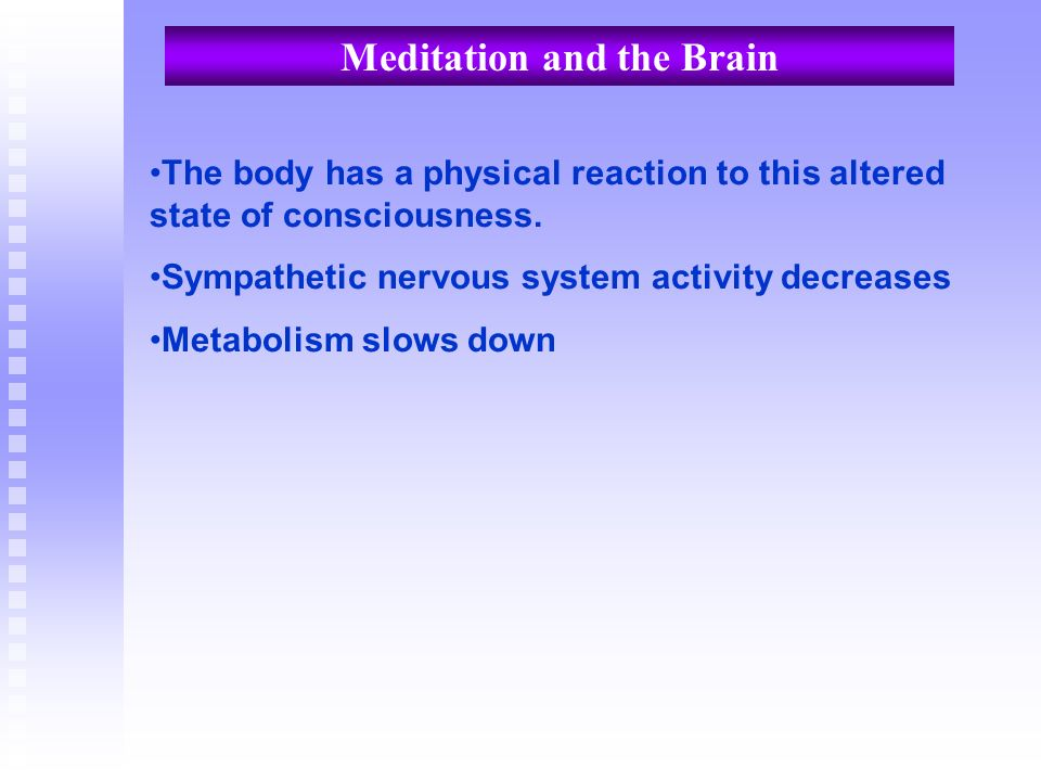 Meditation and the Brain