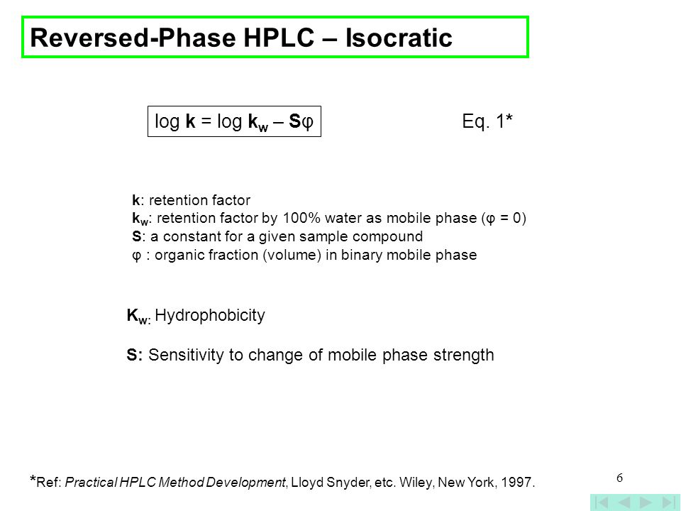 Reversed-Phase HPLC – Isocratic