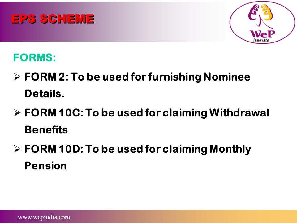 EPS SCHEME FORMS: FORM 2: To be used for furnishing Nominee Details.