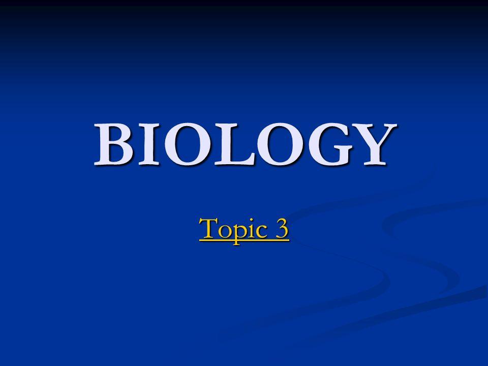 BIOLOGY Topic 3