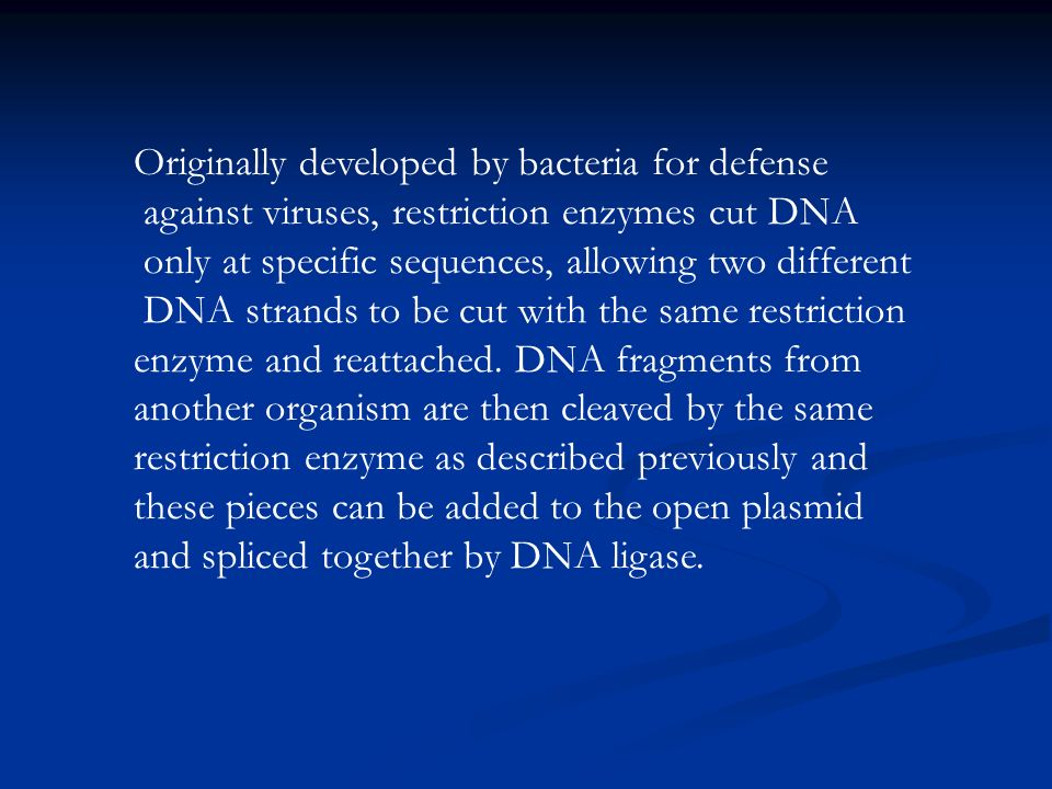 Originally developed by bacteria for defense