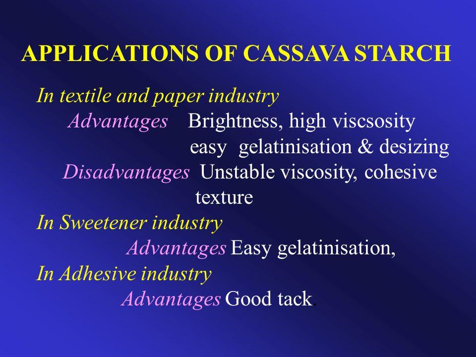 APPLICATIONS OF CASSAVA STARCH