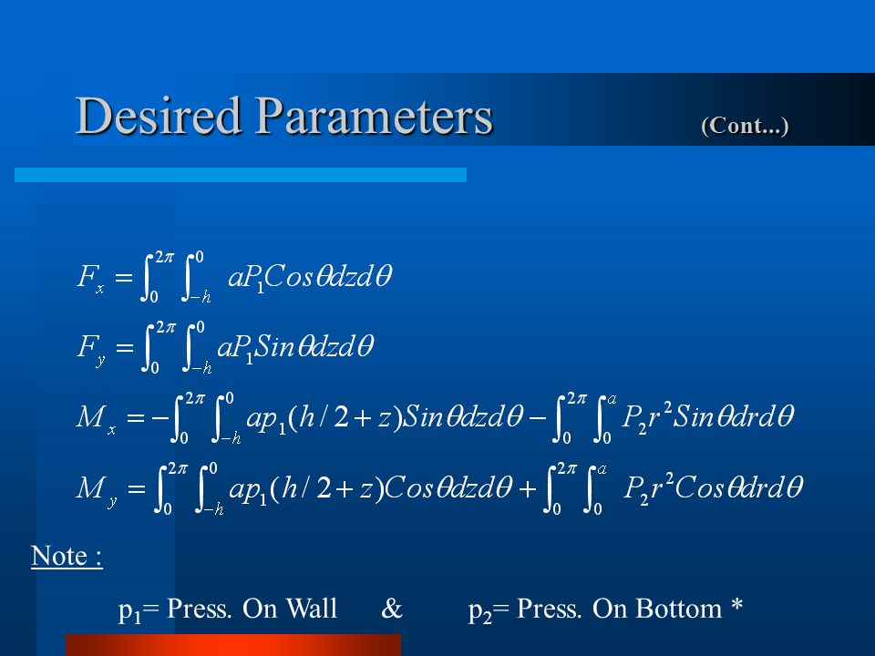 Desired Parameters (Cont...)