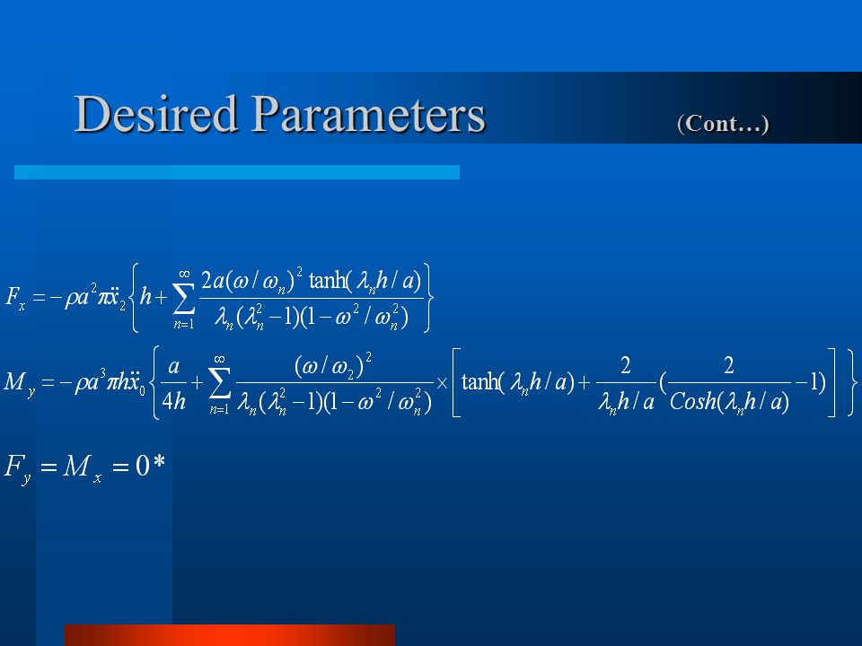 Desired Parameters (Cont…)