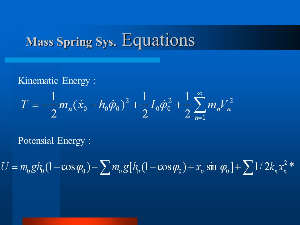 Mass Spring Sys. Equations