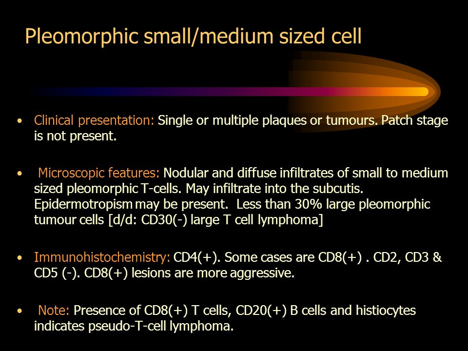 Pleomorphic small/medium sized cell