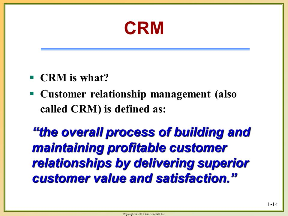 CRM CRM is what Customer relationship management (also called CRM) is defined as: