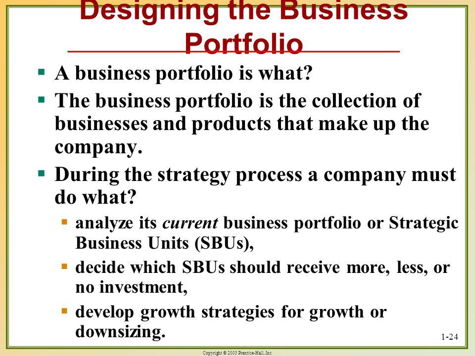 Designing the Business Portfolio
